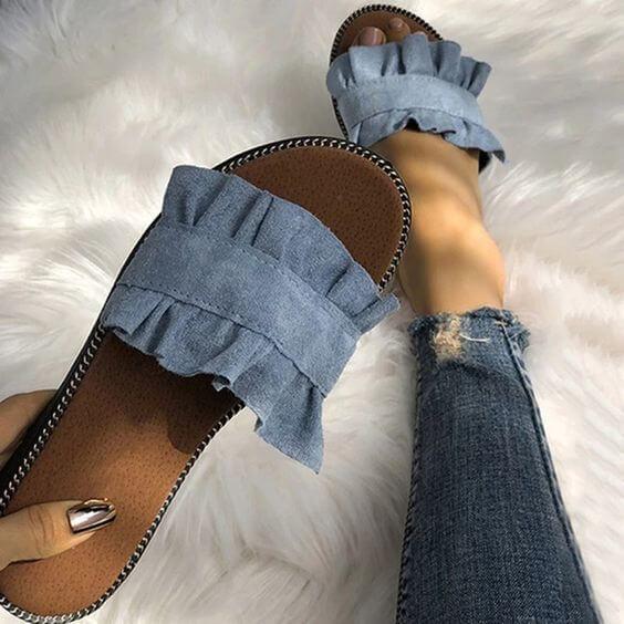 ciabatte in jeans