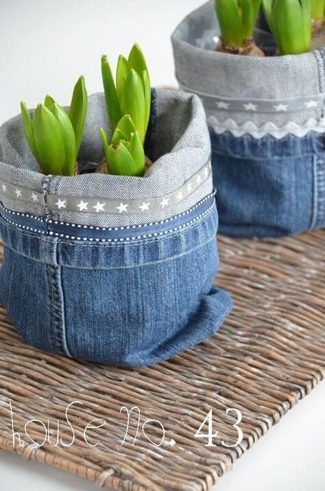 portavaso in jeans