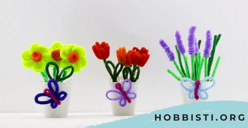 Come realizzare dei fiori con gli scovolini