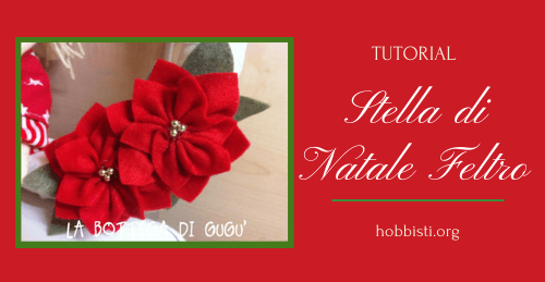 Stella di natale in feltro tutorial
