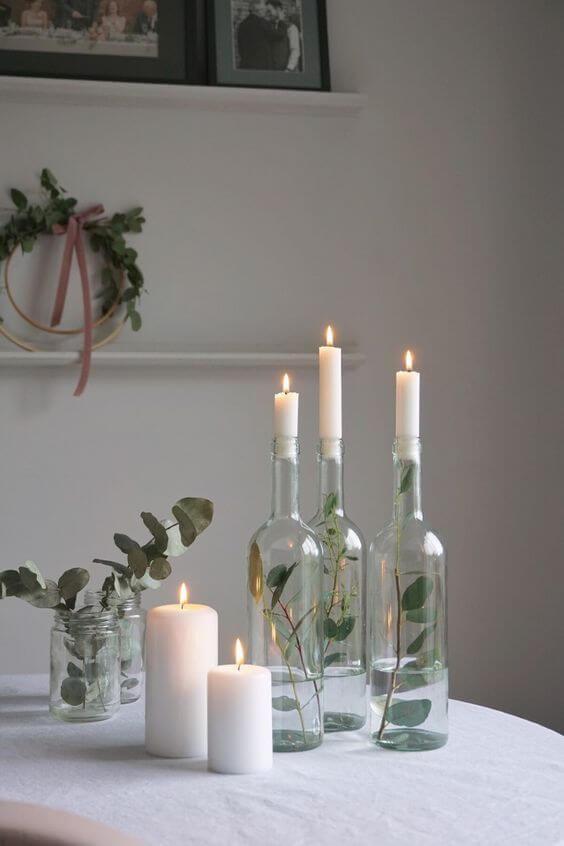 riciclo bottiglie di vetro decorative