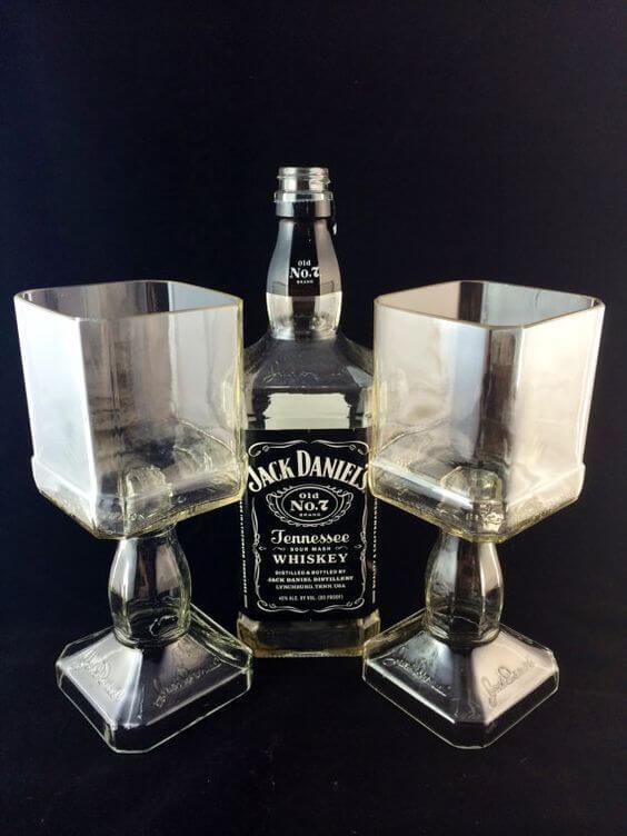 riciclo bottiglie di vetro portaoggetti